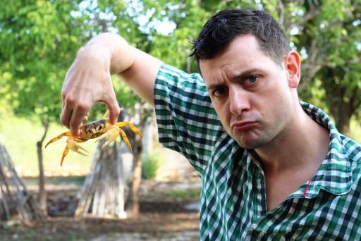 Stefko mit Krabbe