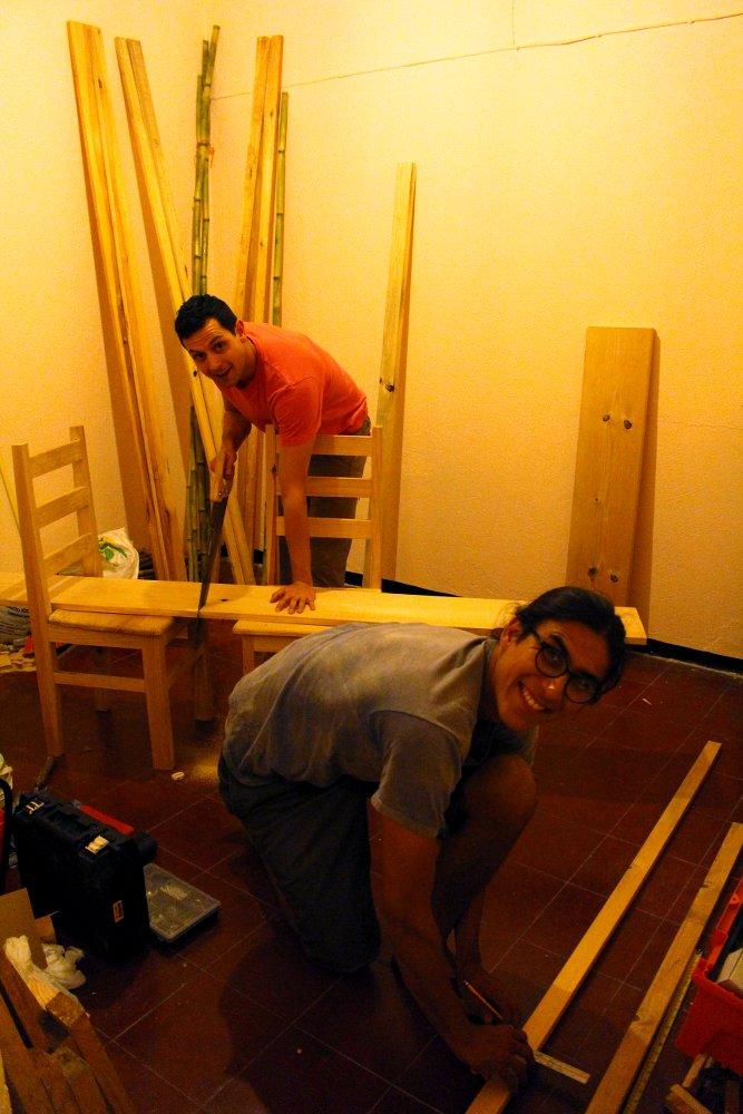abends mal einen tisch bauen. Black Bedroom Furniture Sets. Home Design Ideas